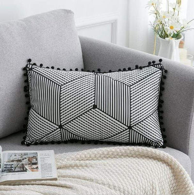 45X45cm just cover 1 / 30X50cm 1pc Moroccan Macrame Pillows Electric Solitude