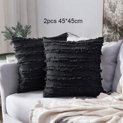 45X45cm just cover / 2pcs Moroccan Macrame Pillows Electric Solitude