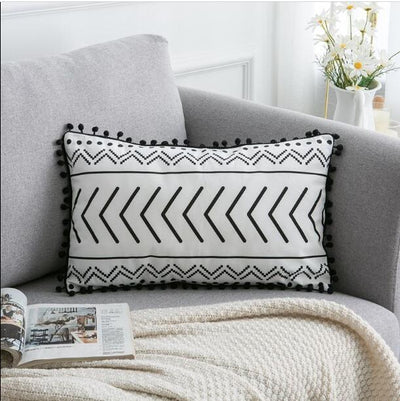 45X45cm just cover / 30X50cm 1pc Moroccan Macrame Pillows Electric Solitude