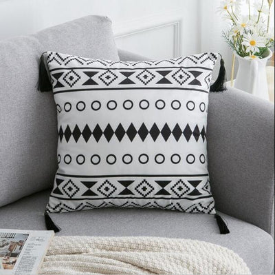 45X45cm just cover 8 / 45X45cm 1pc Moroccan Macrame Pillows Electric Solitude