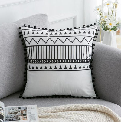 45X45cm just cover 9 / 45X45cm 1pc Moroccan Macrame Pillows Electric Solitude
