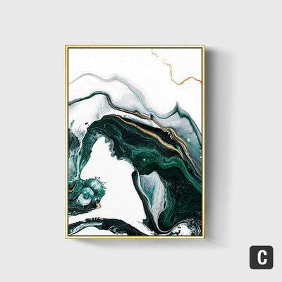 50X70cm No Frame / C Emerald Sea Canvas Art imxgine
