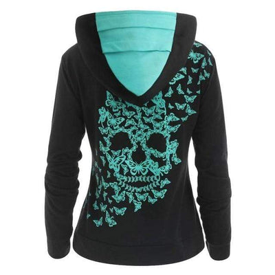 7 / 5XL / China Butterfly Skull Hoodie that Dealio