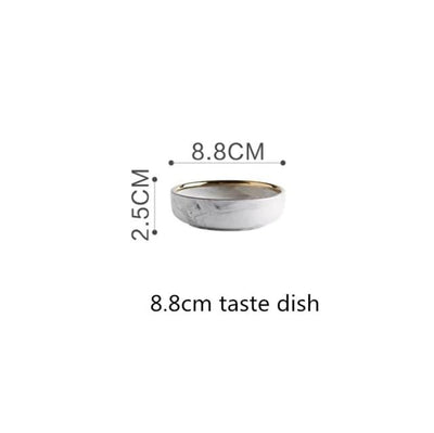 8.8cm taste dish Lexington Gold-Rimmed Marble Dining Set Electric Solitude