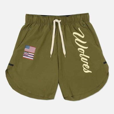 Army Green / XXL / China Wolf Pack Gym Shorts Electric Solitude