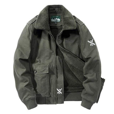 Army Green / XXL Citizen Renegade Fleece Lined Pilot Jacket Baron Supply Co