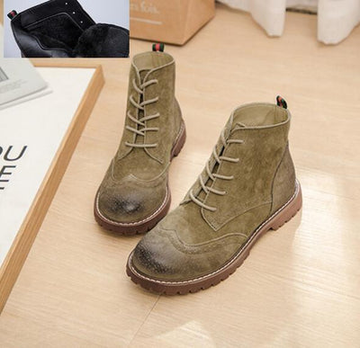 ArmyGreen  fluff / 35 Genuine Leather Boots Baron Supply Co