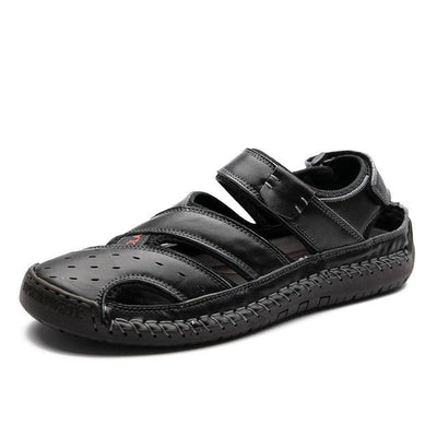 Black / 14 Danby Genuine Leather Sandal Electric Solitude