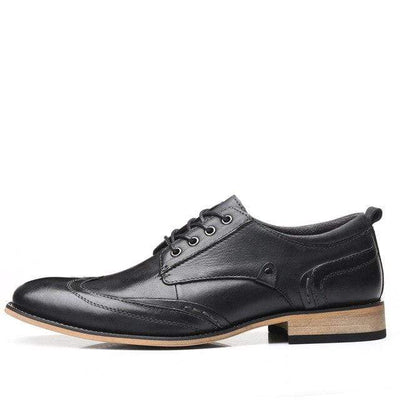 Black / 14 Executive Genuine Leather Oxford that Dealio