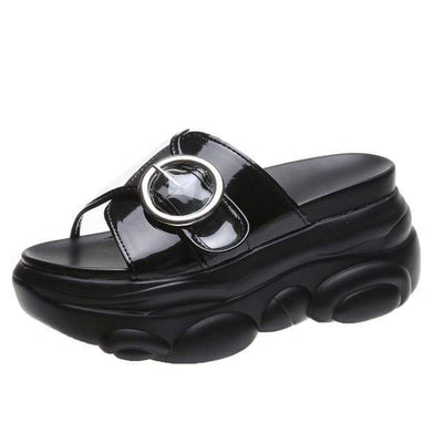 Black / 34 Chunky Platform Slide Electric Solitude