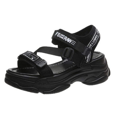 Black / 35 New Seoul Sandal Electric Solitude