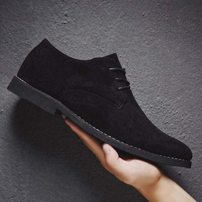 Black / 39 Classic Suede Oxford Genuine Leather Baron Supply Co