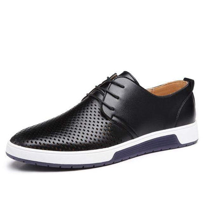 Black / 5.5 Genuine Leather Casual Oxford Baron Supply Co