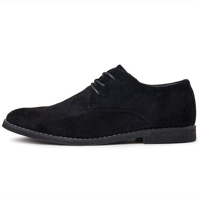 Black / 6.5 Londoner Suede Derby Shoe Baron Supply Co