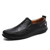 Black / 6 Superior Comfort Genuine Leather Loafer Baron Supply Co