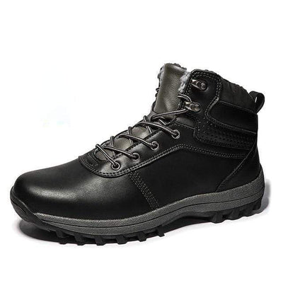 Black / 7 Norwegian Genuine Leather Waterproof Snow Boot Baron Supply Co