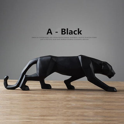 Black / Big  19 inches Panther Pride Statue imxgine