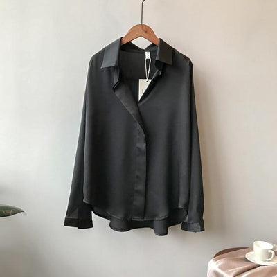black / M Raven Silk Blouse imxgine