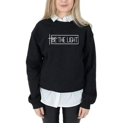 Black-white txt / S Be The Light Sweatshirt Electric Solitude