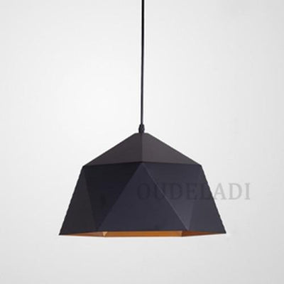 Black / Without bulb / Dia 25cm Nordic Wrought Iron Ceiling Light imxgine
