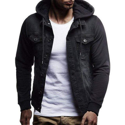 Black / XL / China Warwick Denim Hoodie that Dealio