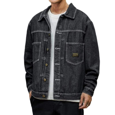 Black / XS Tokyo Denim Jacket that Dealio