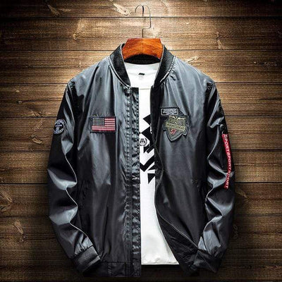 Black / XXL Elevation Patch Bomber Baron Supply Co