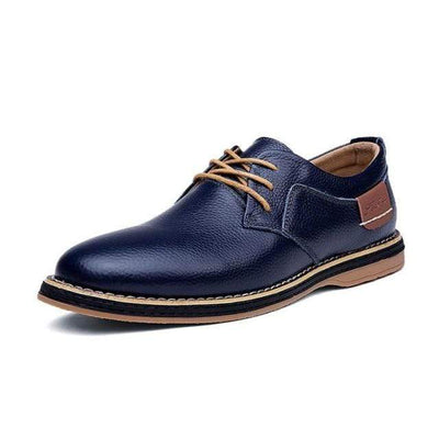 Blue / 7 Genuine Leather Supreme Comfort Oxford Shoe Baron Supply Co