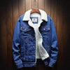 Blue / S Wool Lined Denim Jacket Baron Supply Co