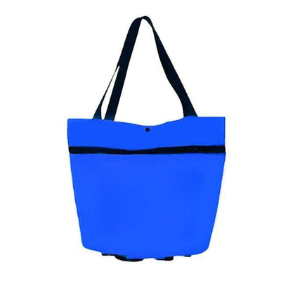 Blue Transforming Tote Bag to Trolley Baron Supply Co
