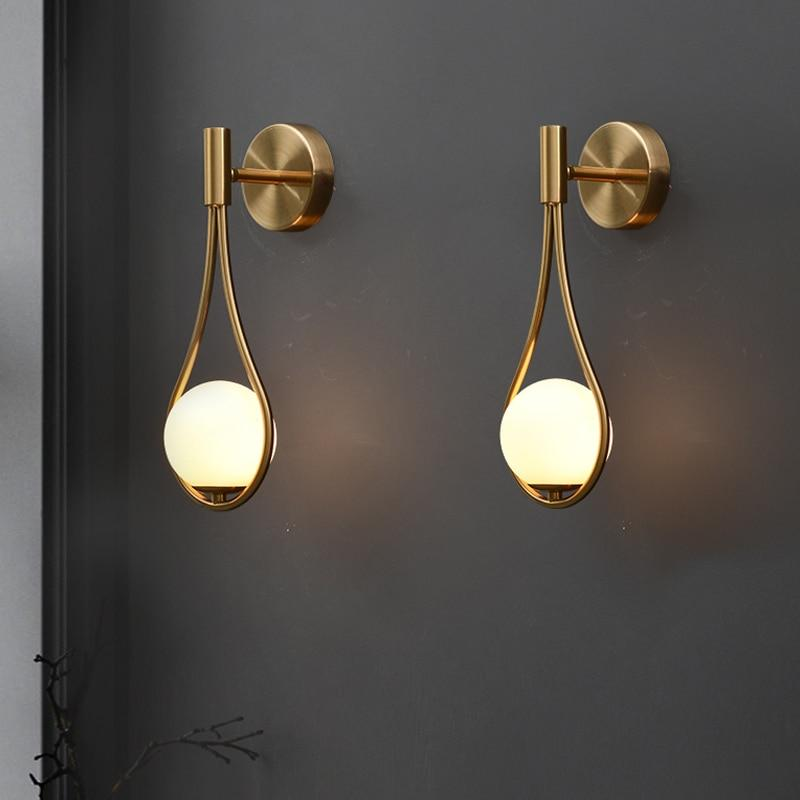 Bronze Orb Drop Wall Light imxgine