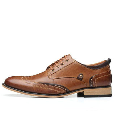Brown / 12 Executive Genuine Leather Oxford that Dealio