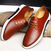 Brown / 5.5 Genuine Leather Casual Oxford Baron Supply Co