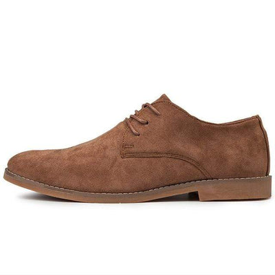 Brown / 6.5 Londoner Suede Derby Shoe Baron Supply Co