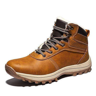 Brown / 9.5 Norwegian Genuine Leather Waterproof Snow Boot Baron Supply Co