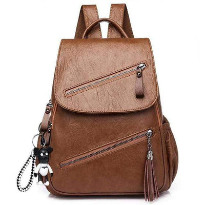 brown Ultra Soft Vegan Leather Backpack Electric Solitude