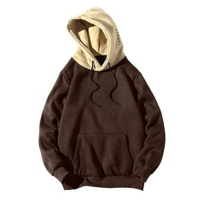 Brown / XL / United States Dual Tone Urban Hoodie Electric Solitude