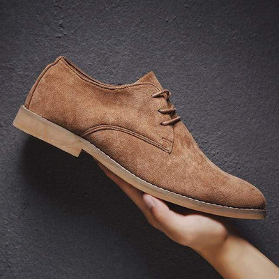 Brwon / 39 Classic Suede Oxford Genuine Leather Baron Supply Co