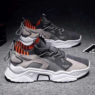 colour1 / 39 Summer Trend Style Men's Casual Shoes 2020 New Fashion Breathable Mesh Light Personality Sneakers Flying Weaving Tenis Masculino Electric Solitude