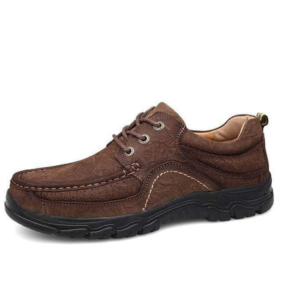 Dark Brown / 11.5 Genuine Leather Waterproof Comfort Pro Shoes Baron Supply Co