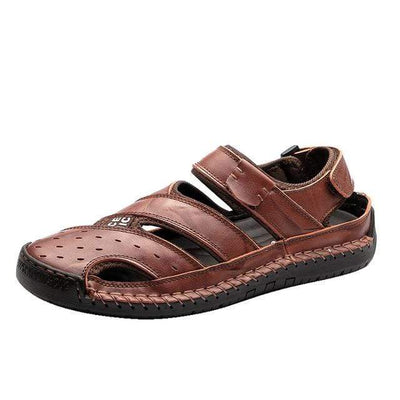 Dark Brown / 14 Danby Genuine Leather Sandal Electric Solitude