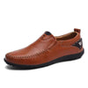 Dark Brown / 6 Superior Comfort Genuine Leather Loafer Baron Supply Co