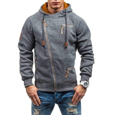 Dark Grey / XL Renegade Fleece Zip Up Hoodie Baron Supply Co