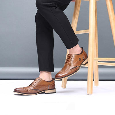 Executive Genuine Leather Oxford that Dealio