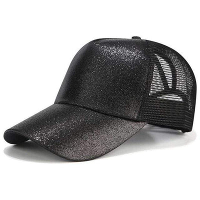 Glitter Black Official Ponytail Cap™ that Dealio