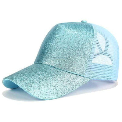 Glitter Blue Official Ponytail Cap™ that Dealio