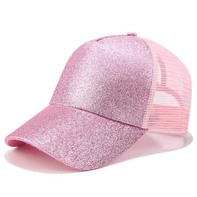 Glitter Dark pink Official Ponytail Cap™ that Dealio
