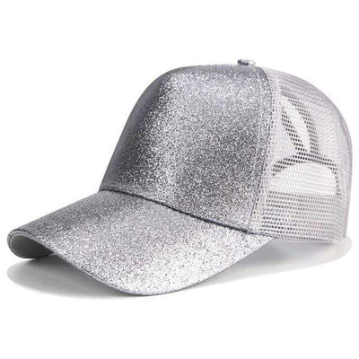 Glitter Grey Official Ponytail Cap™ that Dealio
