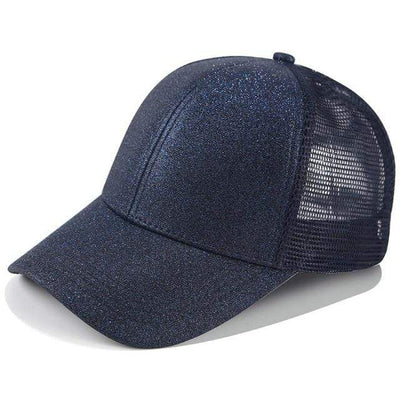 Glitter Navy blue Official Ponytail Cap™ that Dealio