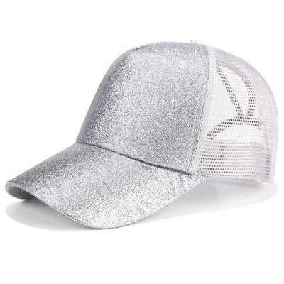 Glitter Silver Official Ponytail Cap™ that Dealio